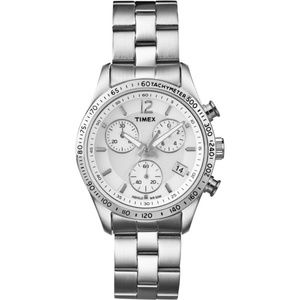 T2P059 Chronograph Women's Silver Steel Band NWT